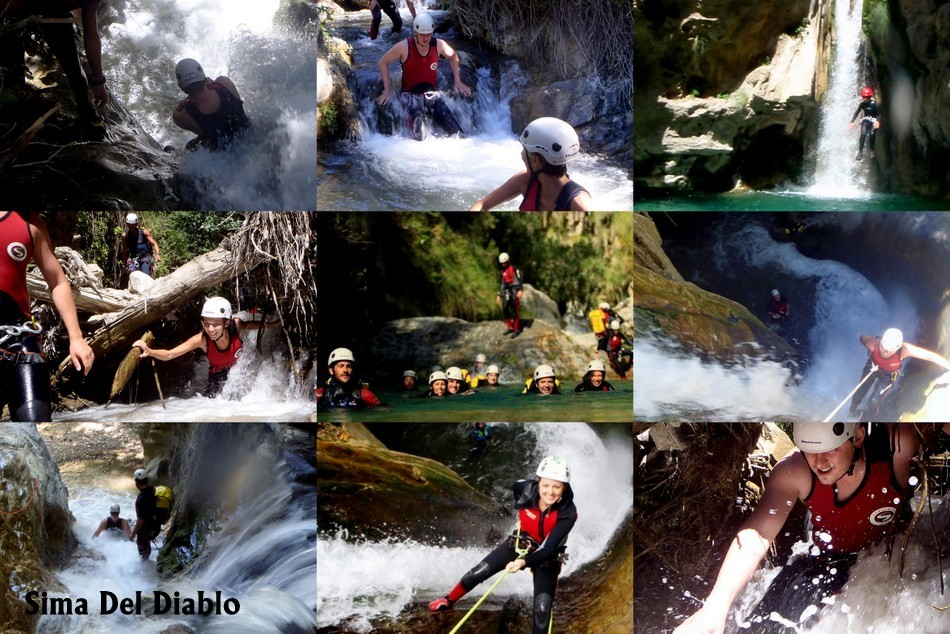 Sima Del Diablo, Rhonda Canyoning on the Costa del Sol, Spain Canyoning in Marbella, Canyoning, climbing and waterfall activities