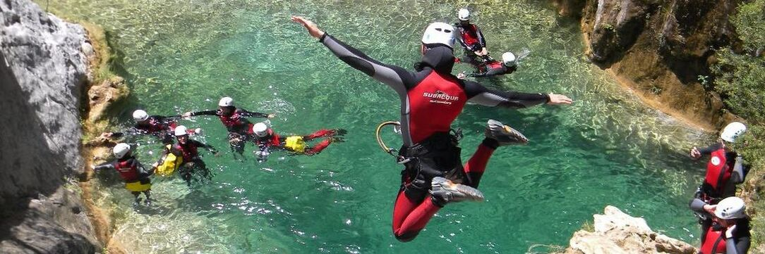 Marbella canyoning hen and stag parties