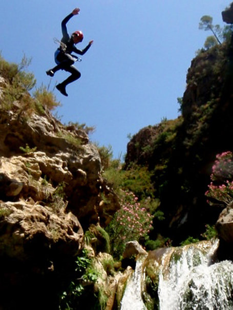 Canyoning Granada, Rio Verde, Canyoning Marbella on the Costa del Sol, Spain, Spanish canyoning avtivities.