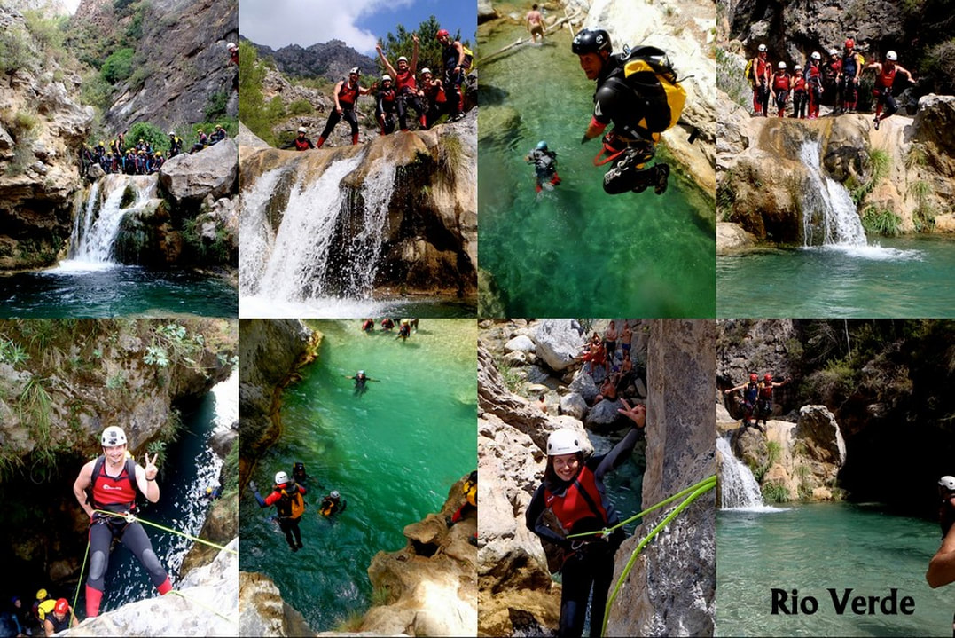 Rio Verde Canyoning, Costa del Sol Canyoning, Near Marbella, Canyoning in Spain