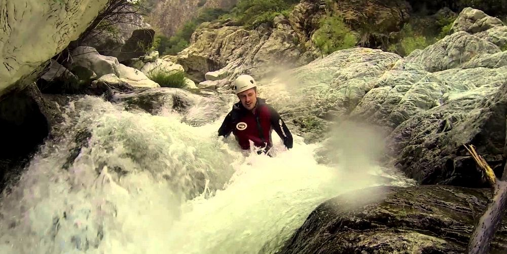 Family party at canyoning Marbella